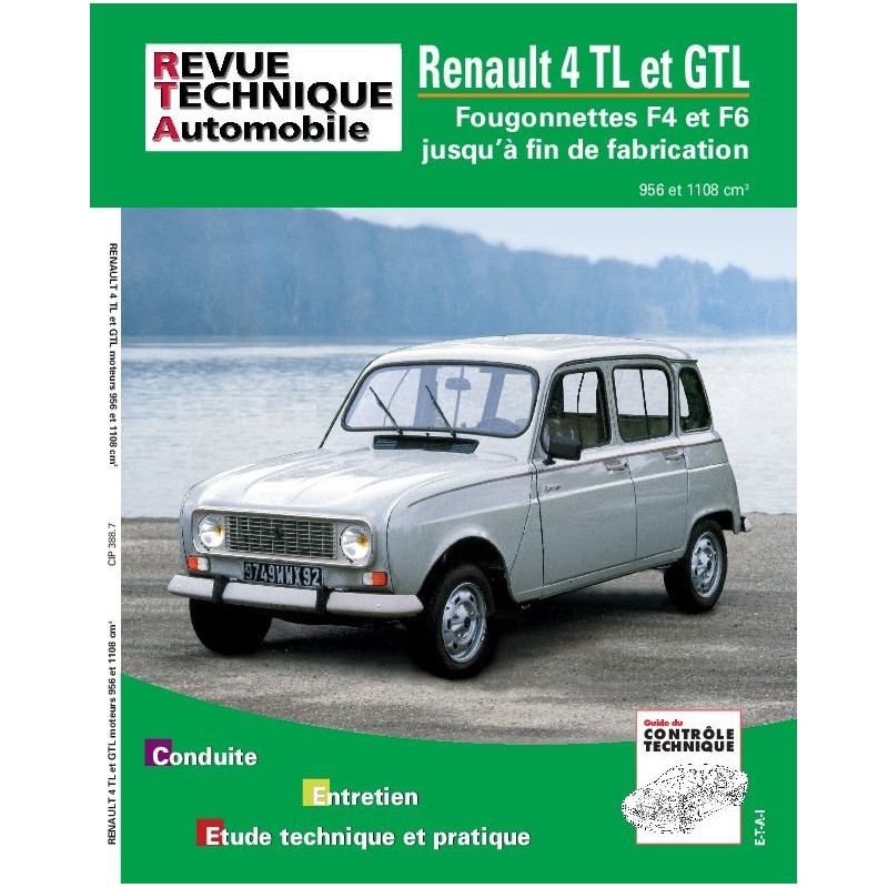 Revue Technique Renault 4 Gtl (RTA)