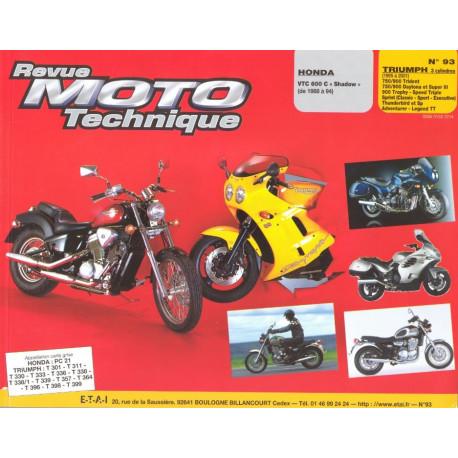 HONDA VT 600 et TRIUMPH 750 900