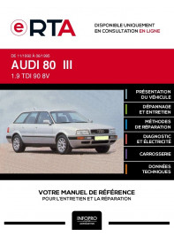 E-RTA Audi 80 III BREAK 5 portes de 11/1992 à 06/1995