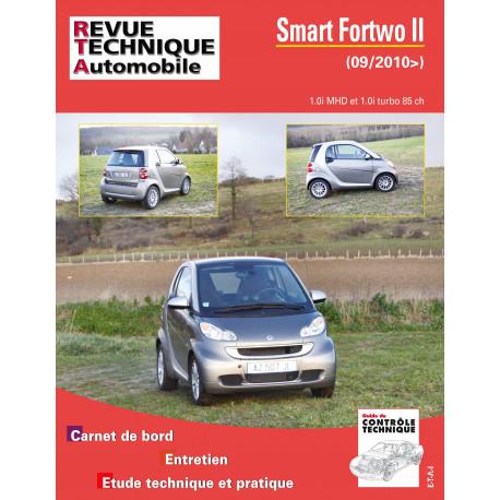 Smart Fortwo II 1.0i MHD et 1.0i turbo 85 ch (depuis 09/2010)