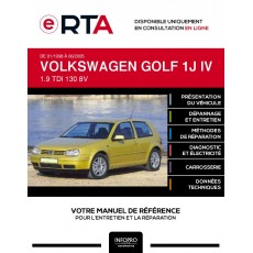 E-RTA Volkswagen Golf IV HAYON 3 portes de 01/1998 à 06/2005