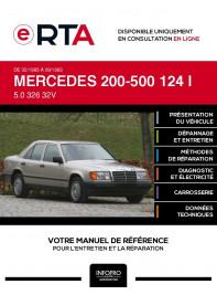 E-RTA Mercedes 200-500 I BERLINE 4 portes de 02/1985 à 09/1993