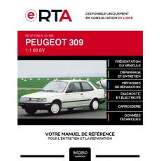 E-RTA Peugeot 309 HAYON 3 portes de 07/1989 à 12/1993