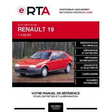 E-RTA Renault 19 HAYON 3 portes de 07/1988 à 04/1992