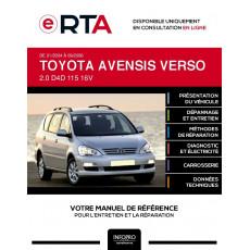 E-RTA Toyota Avensis verso MONOSPACE 5 portes de 01/2004 à 09/2006