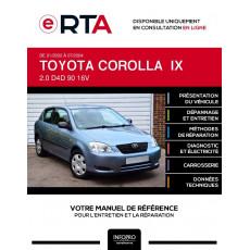 E-RTA Toyota Corolla IX HAYON 3 portes de 01/2002 à 07/2004