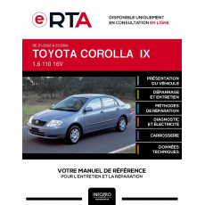 E-RTA Toyota Corolla IX BERLINE 4 portes de 01/2002 à 07/2004