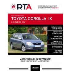 E-RTA Toyota Corolla IX BREAK 5 portes de 01/2002 à 07/2004