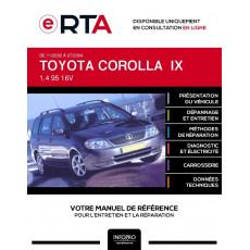 E-RTA Toyota Corolla IX BREAK 5 portes de 11/2002 à 07/2004