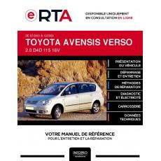 E-RTA Toyota Avensis verso MONOSPACE 5 portes de 07/2001 à 12/2003