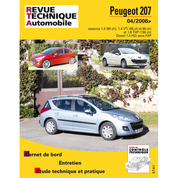 revue technique peugeot 207 cc rta site officiel etai. Black Bedroom Furniture Sets. Home Design Ideas