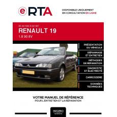 E-RTA Renault 19 CABRIOLET 2 portes de 04/1992 à 04/1997