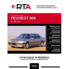 E-RTA Peugeot 605 BERLINE 4 portes de 09/1989 à 06/1994