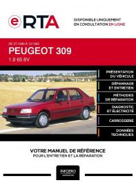 E-RTA Peugeot 309 HAYON 5 portes de 07/1989 à 12/1993