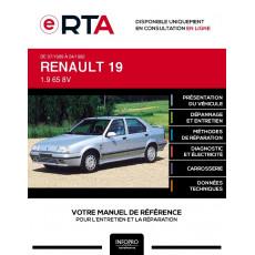 E-RTA Renault 19 BERLINE 4 portes de 07/1989 à 04/1992