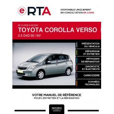 E-RTA Toyota Corolla verso I MONOSPACE 5 portes de 01/2002 à 05/2004