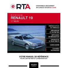 E-RTA Renault 19 CABRIOLET 2 portes de 07/1991 à 04/1992