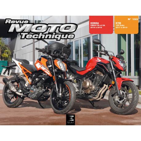 RMT - 193 KTM DUKE 125 (de 2017 à 2019) / HONDA CB500FA&XA & CBR500RA (de 2016 à 2018)