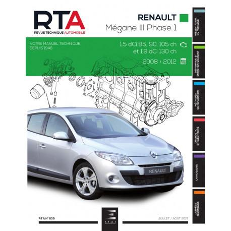 RTA 839 MEGANE III PHASE 1 (2008 à 2012)