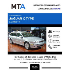 MTA Jaguar X-type BREAK 5 portes de 03/2004 à 12/2007