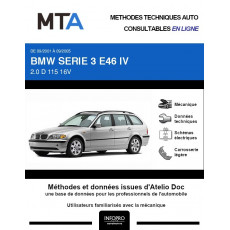MTA Bmw Serie 3 IV BREAK 5 portes de 09/2001 à 09/2005