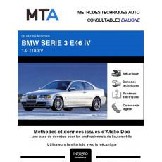 MTA Bmw Serie 3 IV COUPE 2 portes de 04/1999 à 03/2003