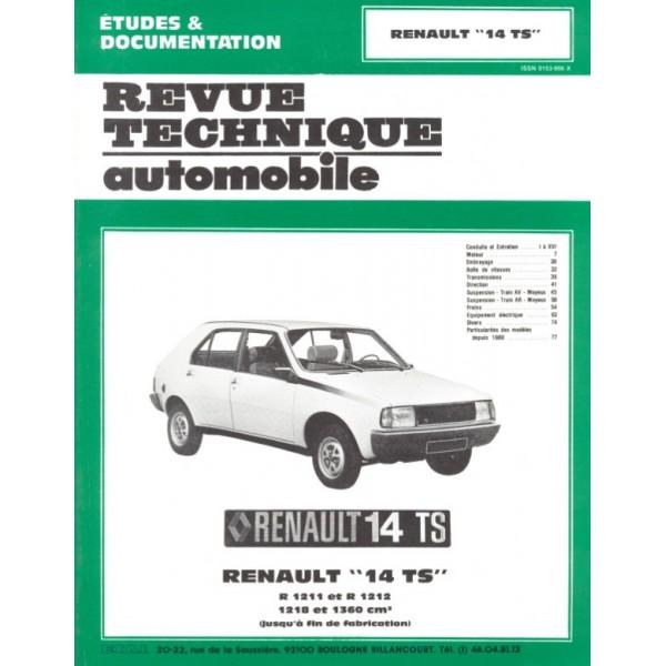 Revue Technique Renault 14 ts