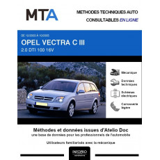 MTA Opel Vectra III BREAK 5 portes de 12/2003 à 10/2005