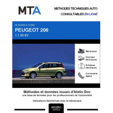 MTA Peugeot 206 BREAK 5 portes de 06/2002 à 12/2006