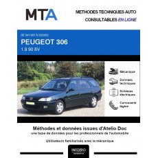 MTA Peugeot 306 BREAK 5 portes de 04/1997 à 03/2002