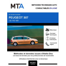 MTA Peugeot 307 BREAK 5 portes de 05/2002 à 06/2005