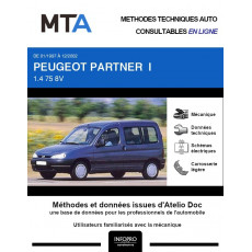 MTA Peugeot Partner I BREAK 4 portes de 01/1997 à 12/2002