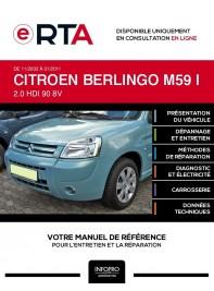 E-RTA Citroen Berlingo I PLANCHER CABINE 2 portes de 11/2002 à 01/2011