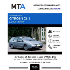 MTA Citroen C5 I BREAK 5 portes de 09/2004 à 06/2008