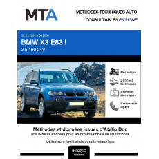 MTA Bmw X3 I BREAK 5 portes de 01/2004 à 08/2006