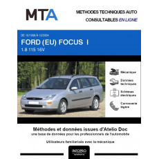 MTA Ford (eu) Focus I BREAK 5 portes de 10/1998 à 12/2004