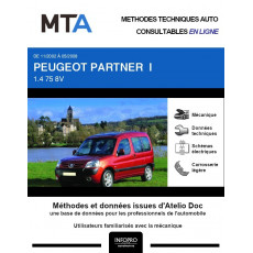MTA Peugeot Partner I BREAK 5 portes de 11/2002 à 05/2008