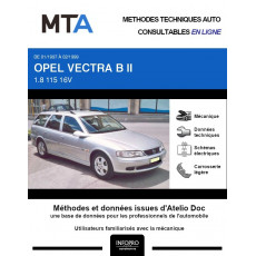 MTA Opel Vectra II BREAK 5 portes de 01/1997 à 02/1999