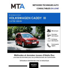 MTA Volkswagen Caddy III BREAK 5 portes de 03/2004 à 07/2010