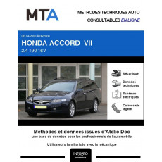 MTA Honda Accord VII BREAK 5 portes de 04/2006 à 06/2008