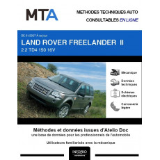 MTA Land rover Freelander II BREAK 5 portes de 01/2007 à ce jour