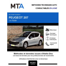 MTA Peugeot 207 BREAK 5 portes de 07/2007 à 03/2013