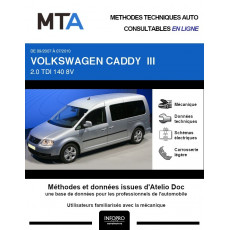 MTA Volkswagen Caddy III BREAK 5 portes de 09/2007 à 07/2010