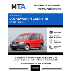 MTA Volkswagen Caddy III BREAK 4 portes de 03/2004 à 07/2010