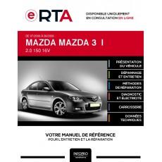 E-RTA Mazda Mazda 3 I BERLINE 4 portes de 07/2006 à 06/2009