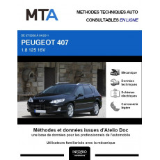MTA Peugeot 407 BREAK 5 portes de 07/2008 à 04/2011