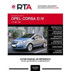 E-RTA Opel Corsa IV HAYON 3 portes de 09/2006 à 12/2010
