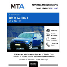 MTA Bmw X3 I BREAK 5 portes de 08/2006 à 08/2010