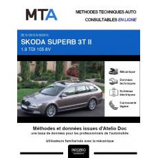 MTA Skoda Superb II BREAK 5 portes de 01/2010 à 05/2013