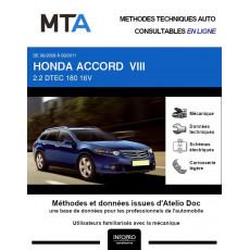 MTA Honda Accord VIII BREAK 5 portes de 06/2008 à 09/2011
